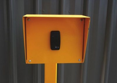 Car park proximity card readers